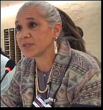 Margo Tamez at the UN Office of the High Commissioner